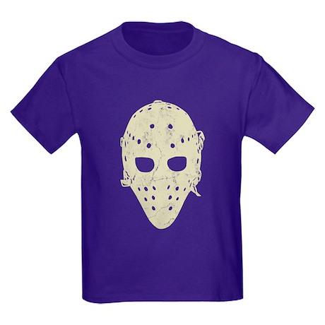 Vintage Hockey Goalie Mask (dark) Kids Dark T-Shir