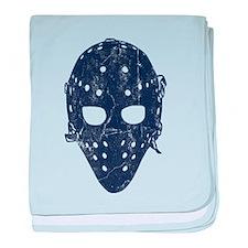 Vintage Hockey Goalie Mask (dark) baby blanket