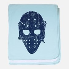 Vintage Hockey Goalie Mask (dark) baby blanket