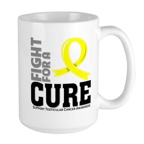 Testicular Cancer Fight For A Cure Large Mug