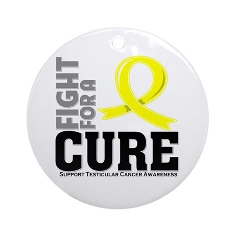Testicular Cancer Fight For A Cure Ornament (Round