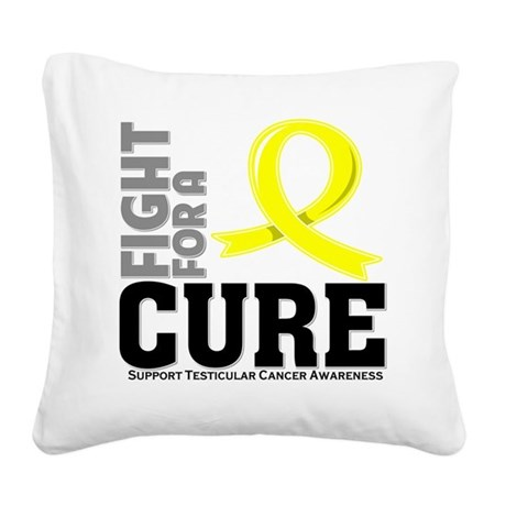 Testicular Cancer Fight For A Cure Square Canvas P