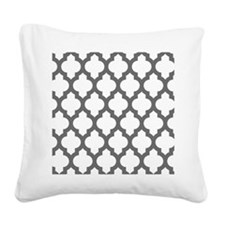 Moroccan Collection - Grey Square Canvas Pillow