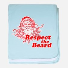 Respect the Beard baby blanket