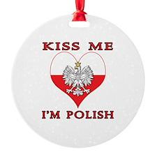 Kiss Me I'm Polish Ornament