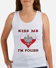 Kiss Me I'm Polish Women's Tank Top