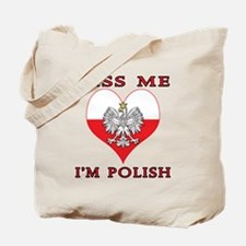 Kiss Me I'm Polish Tote Bag