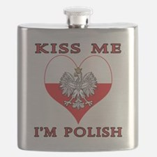 Kiss Me I'm Polish Flask