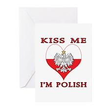 Kiss Me I'm Polish Greeting Cards (Pk of 10)