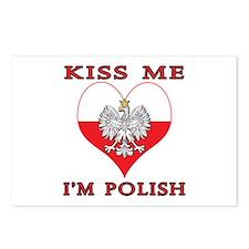 Kiss Me I'm Polish Postcards (Package of 8)