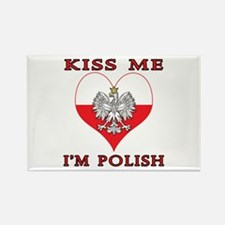 Kiss Me I'm Polish Rectangle Magnet