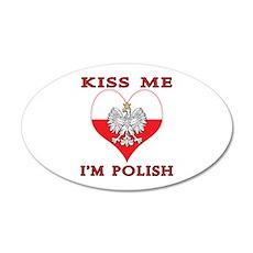 Kiss Me I'm Polish Wall Decal