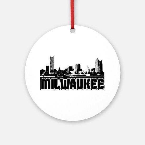 Milwaukee Skyline Ornament (Round)