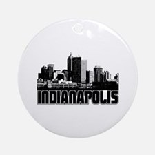 Indianapolis Skyline Ornament (Round)