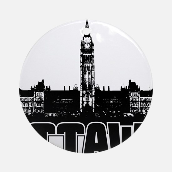 Ottawa Skyline Ornament (Round)