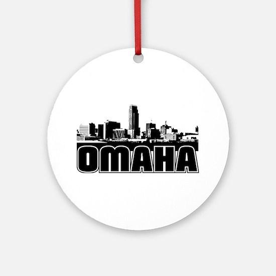 Omaha Skyline Ornament (Round)