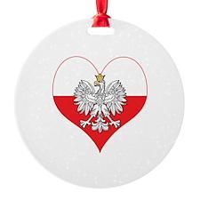 Polish Eagle Heart Ornament