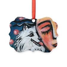 Unique American eskimo dog Ornament