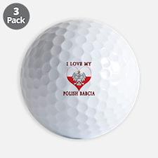 I Love My Polish Babcia Golf Ball