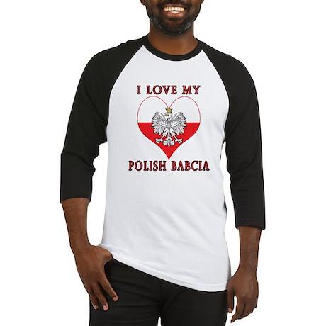 I Love My Polish Babcia Baseball Jersey