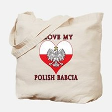 I Love My Polish Babcia Tote Bag