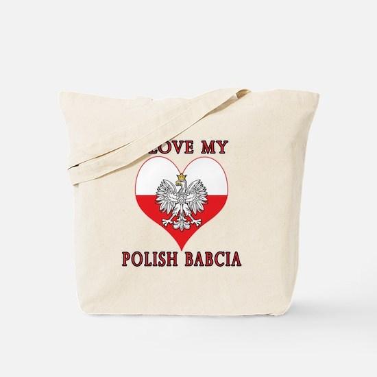 I Love My Polish Babcia Tote Bag