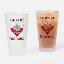 I Love My Polish Babcia Drinking Glass