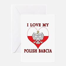 I Love My Polish Babcia Greeting Card
