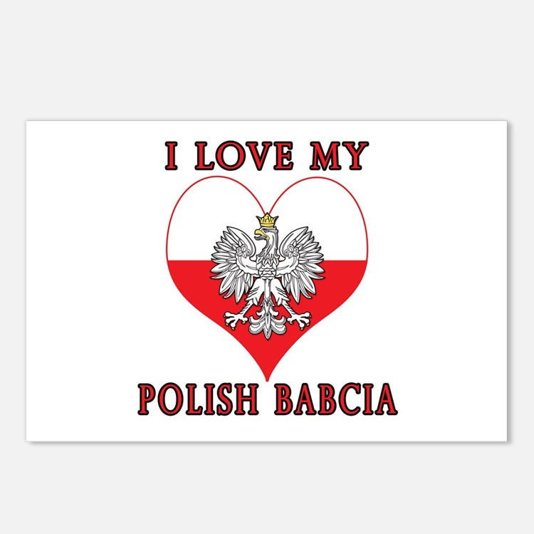 I Love My Polish Babcia Postcards (Package of 8)