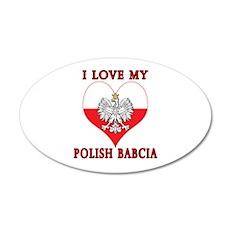 I Love My Polish Babcia Wall Decal