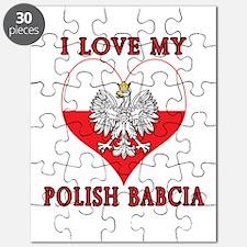 I Love My Polish Babcia Puzzle