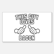 This Guy Loves Bacon Decal