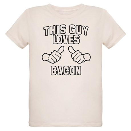 This Guy Loves Bacon Organic Kids T-Shirt