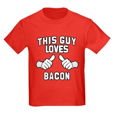 This Guy Loves Bacon Kids Dark T-Shirt