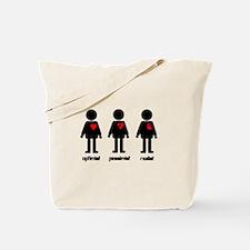Heart Optimist Pessimist Realist Tote Bag