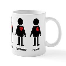 Heart Optimist Pessimist Realist Mug