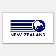 Blue New Zealand Kiwi Oval Decal