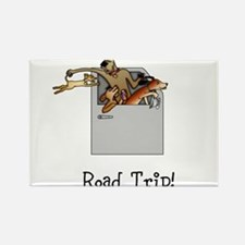 Road Trip Rectangle Magnet