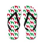 Irish Setter Christmas or Holiday Silhouettes Flip