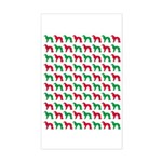 Irish Setter Christmas or Holiday Silhouettes Stic