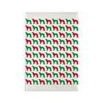 Irish Setter Christmas or Holiday Silhouettes Rect