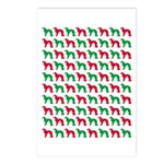 Irish Setter Christmas or Holiday Silhouettes Post