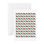 Irish Setter Christmas or Holiday Silhouettes Gree
