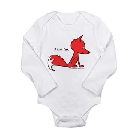 """""""F is for Fox"""" Infant Creeper Body Suit"""
