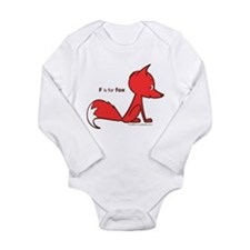 """F is for Fox"" Infant Creeper Body Suit"