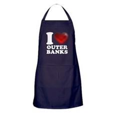 I Heart Outer Banks Apron (dark)