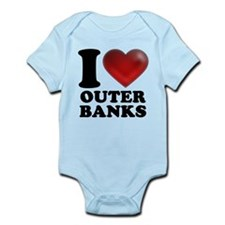 I Heart Outer Banks Onesie