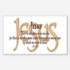 Jesus Acts 4:12 Rectangle Decal