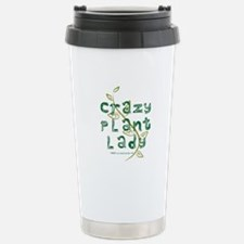 Crazy Plant Lady Stainless Steel Travel Mug