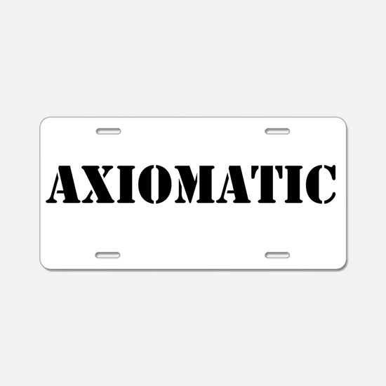 Axiomatic Aluminum License Plate